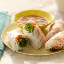 Soft Asian Summer Rolls with Sweet and Savory Dipping Sauce