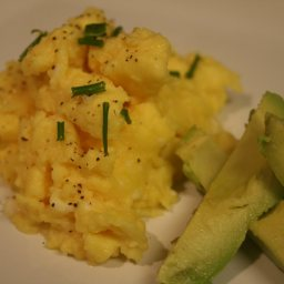 Soft Scrambled Eggs with Avocado
