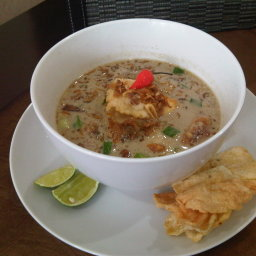 Soto betawi (Indonesian Beef Soup)