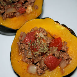 South of the border Stuffed Acorn Squash ( by Sarah Fragoso )