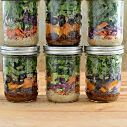 South of the Border Salad in a Jar