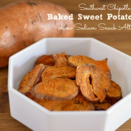 Southwest Chipotle Baked Sweet Potato Chips