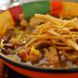 Southwestern Chicken Chili Soup