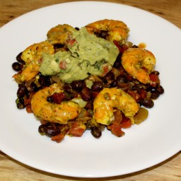 Southwestern Prawns with Black Beans, Tomatoes, and Chiles