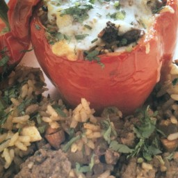 Southwestern-Style Beef-Stuffed Peppers
