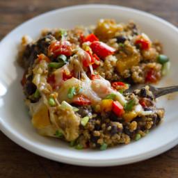 Southwestern Quinoa and Black Bean Casserole