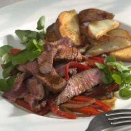Southwestern Steak  and  Peppers