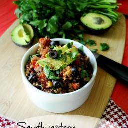 Southwestern Turkey Quinoa Skillet