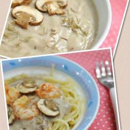 Spaghetti with Creamy Mushroom Soup