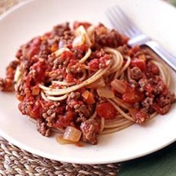 Spaghetti with Tomato-Meat Sauce (5 Pts)