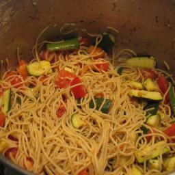 Spaghetti With Zucchini, Tomato and Ricotta