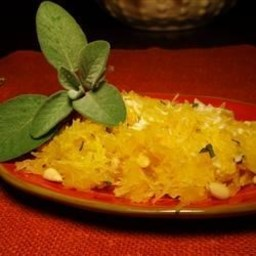 Spaghetti Squash with Pine Nuts and Romano
