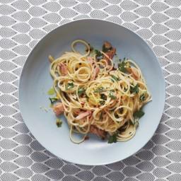 Spaghetti with Tuna and Caper Sauce