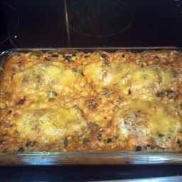 Spanish Chicken and Rice Bake