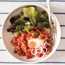 Spanish Rice with Ground Beef and Eggs