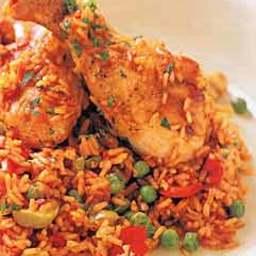 Spanish-Style Chicken with Saffron Rice (Arroz con Pollo)