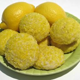 Sparkling Lemon Pillow Cookies