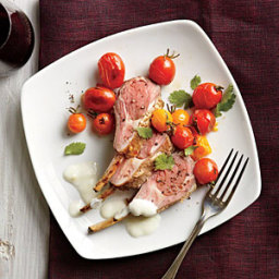 Spice-Rubbed Racks of Lamb with Yogurt Sauce