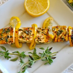 Spiced Grilled Tofu Kebabs with Sesame Seeds