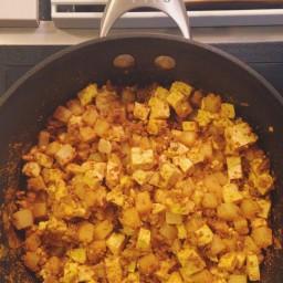 Spicy Chorizo Tofu Scramble