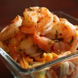 Spicy Garlic Rosemary Shrimp & Pasta