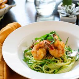 Spicy No Pasta Shrimp Linguine