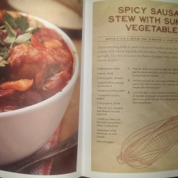 Spicy Sausage Stew with Summer Vegetables