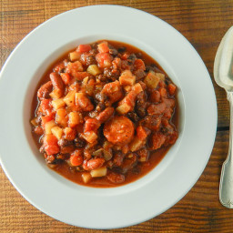 Spicy Slow Cooker Black Bean and Sausage Stew