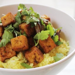 Spicy Stir-Fried Tofu with Coconut Rice From 'The New Vegetarian Cooking fo