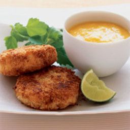 Spicy Crab Cakes with Mango Puree