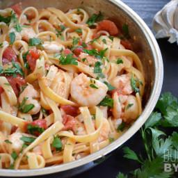 Spicy Shrimp & Tomato Pasta