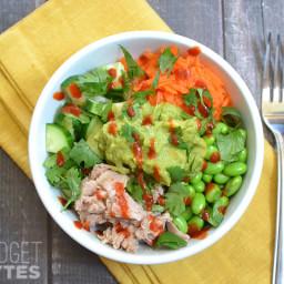 Spicy Tuna Guacamole Bowls