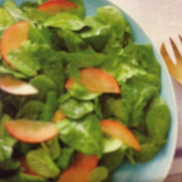 Spinach and Black Plum Salad