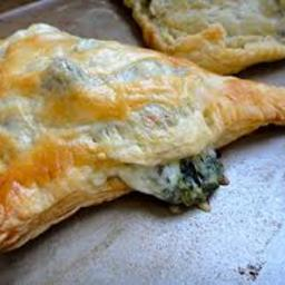 Spinach and cheese puff pastry