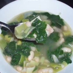 Spinach and Leek White Bean Soup