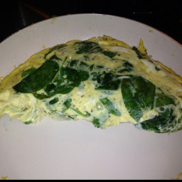 Spinach and Musroom Omelet