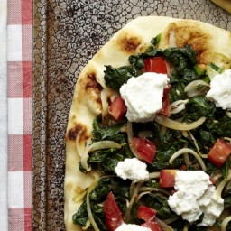 Spinach and Ricotta Naan Pizzas