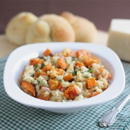 Spinach and Sweet Potato Brown Rice Risotto