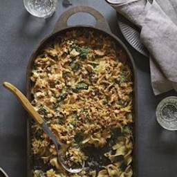 Spinach and Tuna Noodle Casserole