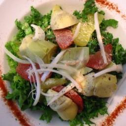 Spinach, Artichoke, Hearts of Palm Salad