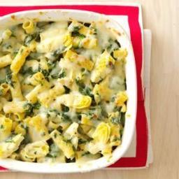 Spinach-Artichoke Rigatoni Recipe