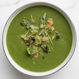 Spinach-Broccoli Soup with Garlic and Cilantro