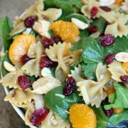 Spinach, Chicken Bowtie Pasta Salad with Teriyaki Viniagrette