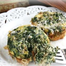 SPINACH-GORGANZOLA QUICHE CUPS
