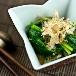 Spinach Ohitashi (Japanese Spinach Salad with Bonito Flakes)