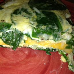 Spinach Omelet With Parmesan