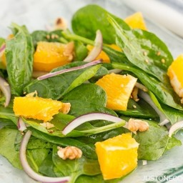 Spinach Salad with Asian Salad Dressing