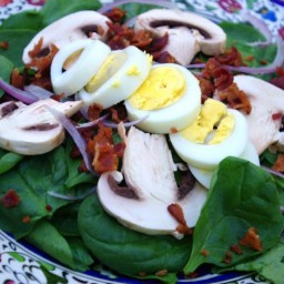 Spinach Salad with Bacon & Warm Dressing