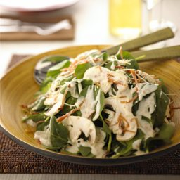 Spinach Salad with Creme de Brie Dressing