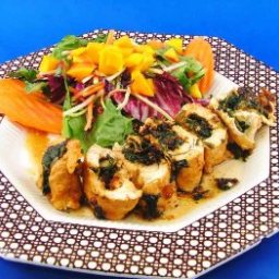 Spinach-Stuffed Chicken Roulade